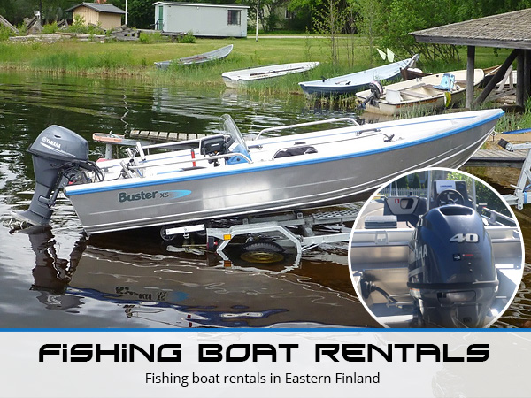 Fishing boat rentals in Eastern Finland