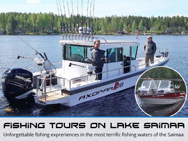 Fishing tours on lake Saimaa